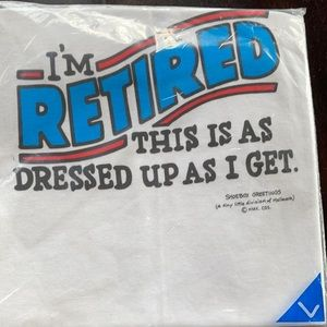 """New """"Retired"""" Tee Large"""